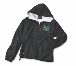 Picture of Girls MHS LAX Hooded 1/4 zip Charles River Jacket